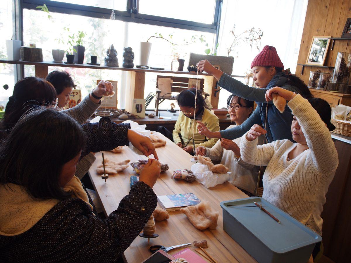 1月 あまがえるde糸紡ぎワークショップのお知らせ